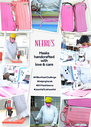 Ethnice wear brand- Neeru's produce DIY face masks for battle against coronavirus